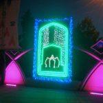 نصب المان های نوری ولایت در معابر جنوب تهران