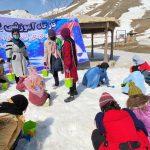 برگزاری کارگاه آموزشی برف و یخ برای کودکان کار