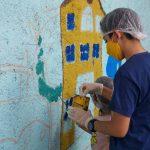 کودکان شمال تهران، محله را دیوارنگاری کردند